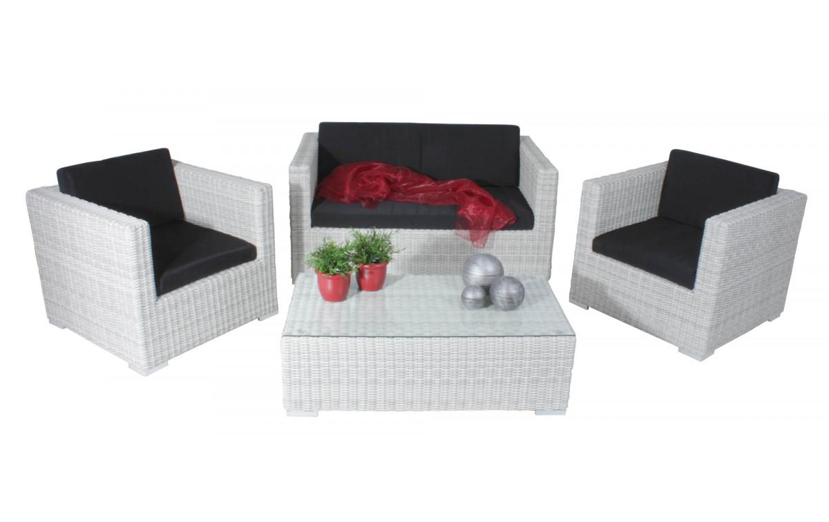 Gartenmöbel Set Alu Weiß - moebel