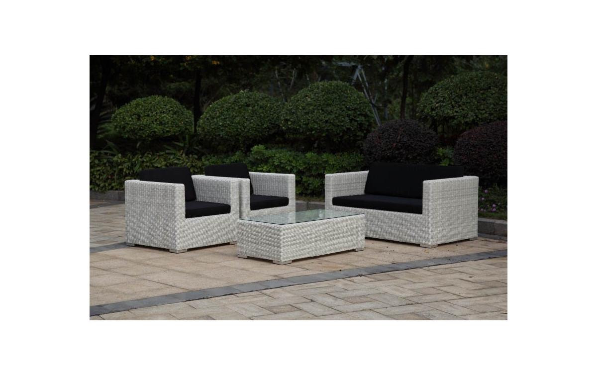 Gartenmöbel Set Terrazino - Alu, Kunststoffgeflecht
