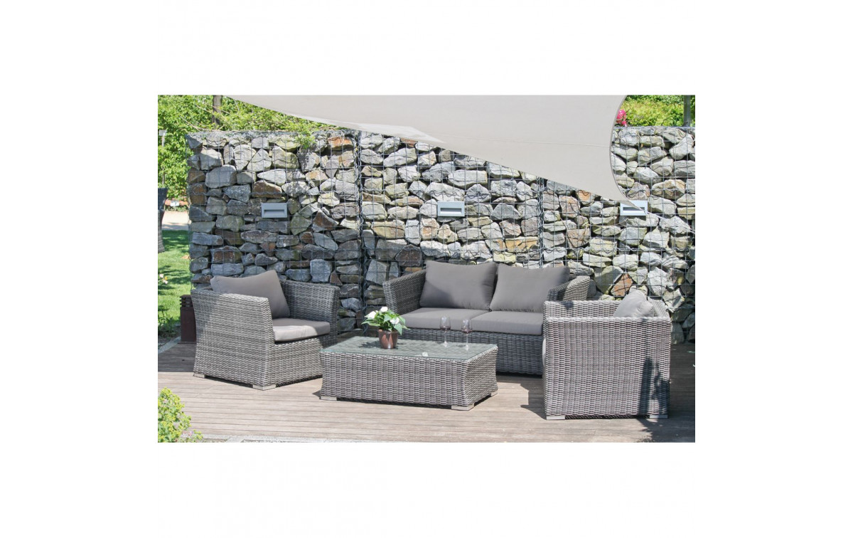 polyrattan gartenm bel set luzon zum g nstigen preis gartenmoebel. Black Bedroom Furniture Sets. Home Design Ideas