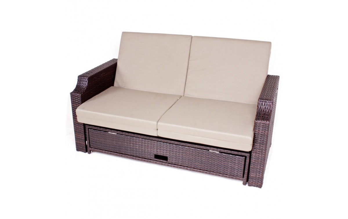 polyrattan gartensofa club stahl kunststoffgeflecht. Black Bedroom Furniture Sets. Home Design Ideas