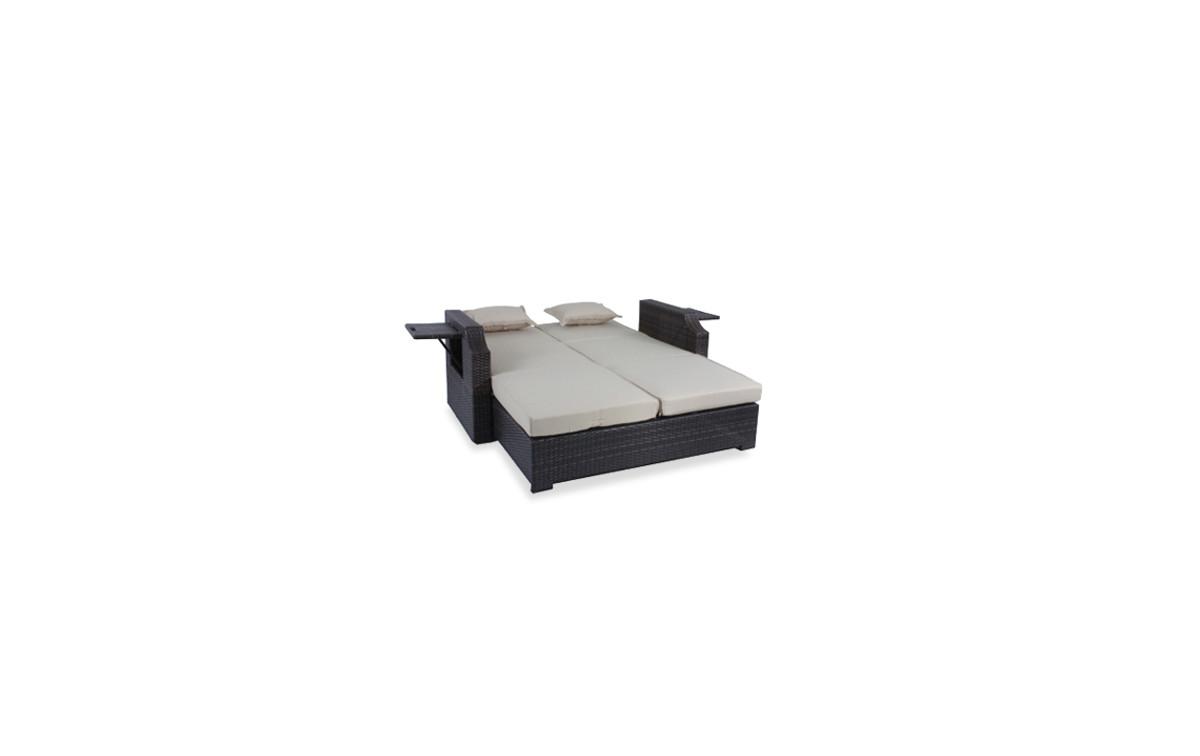 polyrattan gartensofa club stahl kunststoffgeflecht. Black Bedroom Furniture Sets. Home Design Ideas