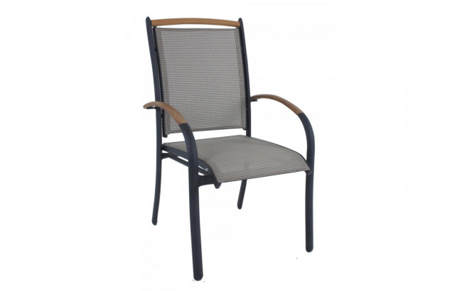 alu gartenstuhl lambre alu textilene. Black Bedroom Furniture Sets. Home Design Ideas