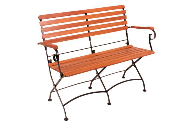 holz metall gartenbank anastasia metall eukalyptus 100. Black Bedroom Furniture Sets. Home Design Ideas