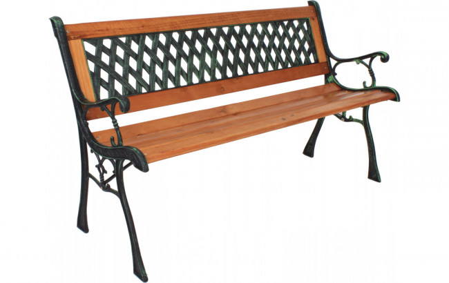 metall holz gartenbank philip metall hartholz mix. Black Bedroom Furniture Sets. Home Design Ideas