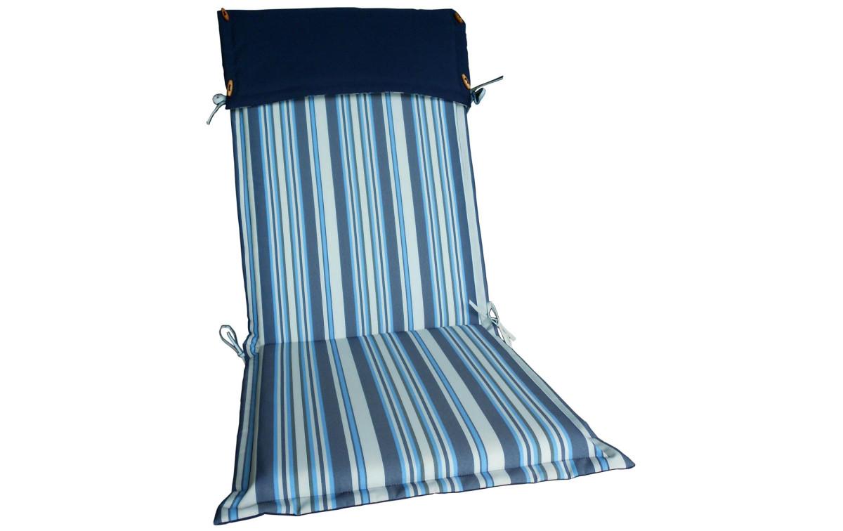 hochlehner auflage salvador gestreift blau wei zum g nstigen preis gartenmoebel