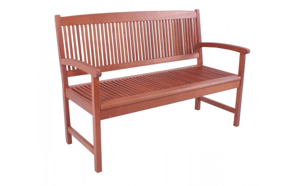 holz gartenbank santi 2 sitzer bangkirai ge lt. Black Bedroom Furniture Sets. Home Design Ideas