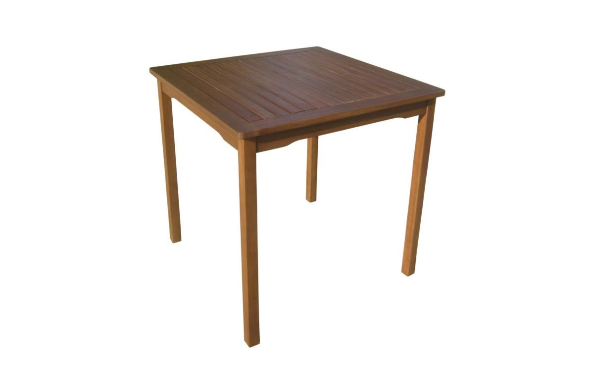Holz Gartentisch Dallas Quadratisch