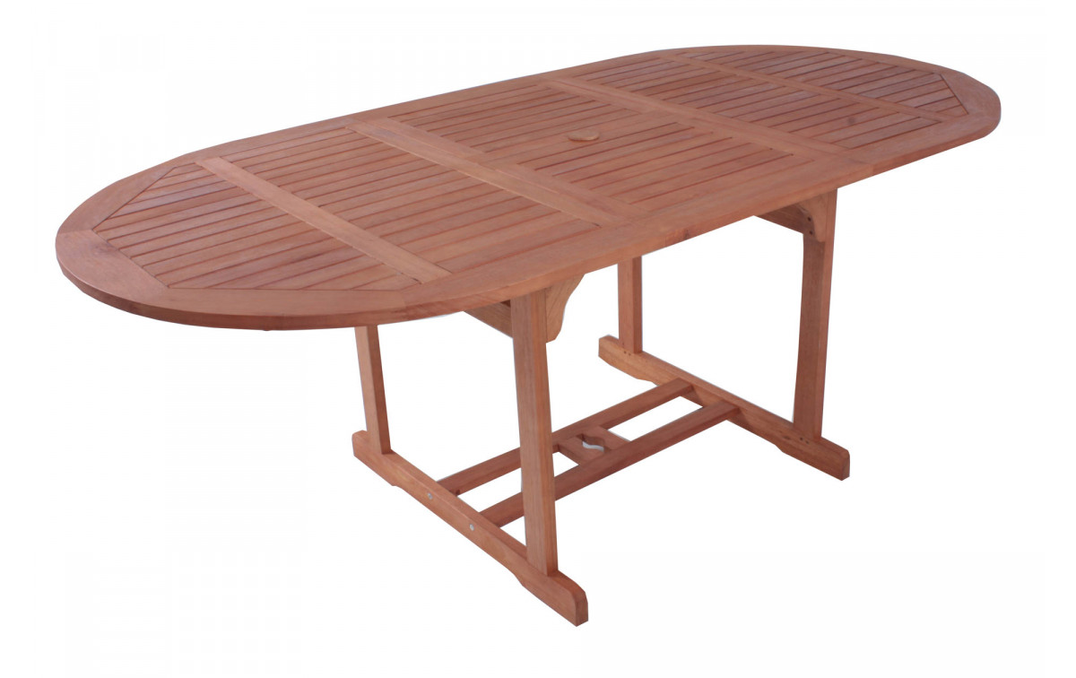 Holz Gartentisch Linda Alu Kunststoffgeflecht