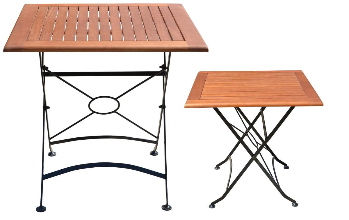 Holz Metall Beistelltisch Anastasia Quadratisch Klapp