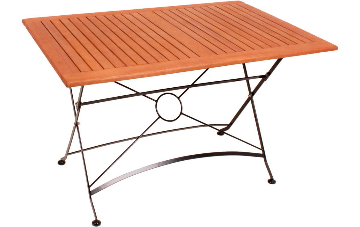 Holz Metall Gartentisch Anastasia Rechteckig Metall Eiche
