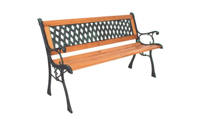 Metall Holz Gartenbank Philip