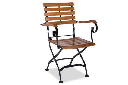 Gartenstühle holz metall  Mit dem Gartenstuhl aus Metall schöner draußen wohnen, plus Metall ...